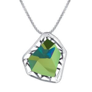 Lančić sa zelenim kristalom Dar za promociju