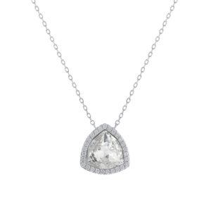 Lančić s privjeskom u obliku trokuta boje srebra