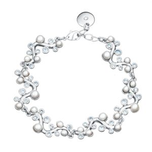 Elegantna narukvica s perlama i kristalima Elegantna narukvica
