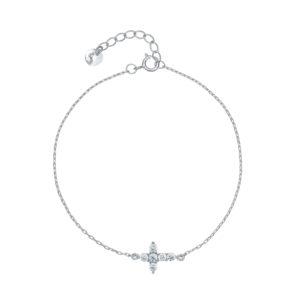 Narukvica sa simbolom križića od kristalaPoklon za krštenje