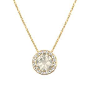 Lančić u zlatnoj boji s malim okruglim kristalnim privjeskom Dar djevojci