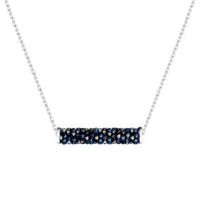 Lančić s kristalnim privjeskom u plavoj boji Dar za rođendan